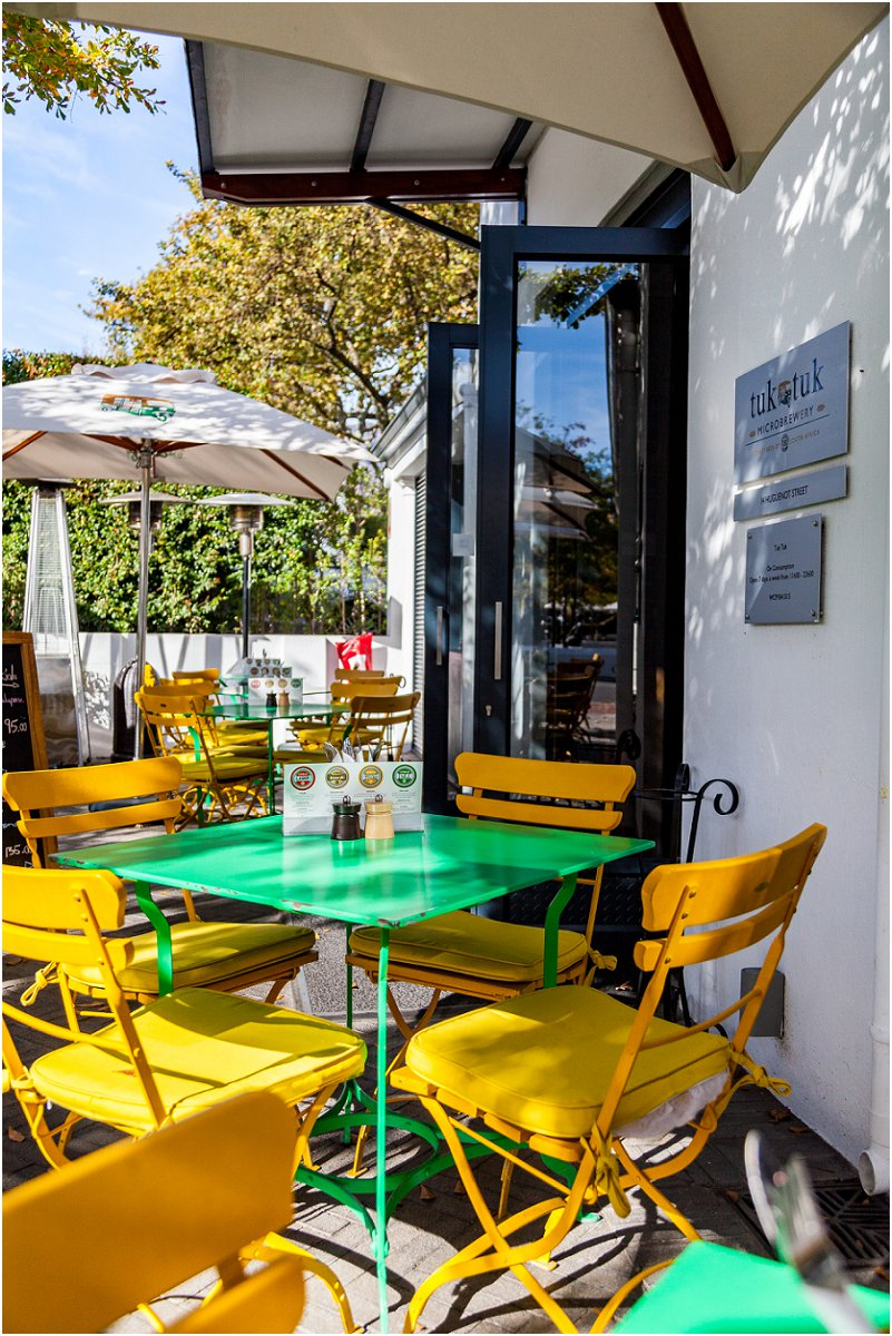 Tuk Tuk Microbrewery Franschhoek Restaurant outside lunch Vorsprung Studio Photographer